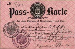 ! Alte Passkarte 1904 , Preussen,, Ebsdorf, Kreis Marburg - Historical Documents