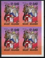 België 2934 ON - Jeugdfilatelie - Strips - BD - Kiekeboe - Quivoila - Merho - In Blok Van 4 - Met Hoekbladboord - SUP - Belgique
