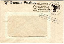 """LETTRE 1942 - OBLIT. MECANIQUE FRAPPEE DU TAMPON DE LA """"BERGAMT SALZBURG"""" - JOURNEES CULTURELLES DE LA JEUNESSE - - Deutschland"""