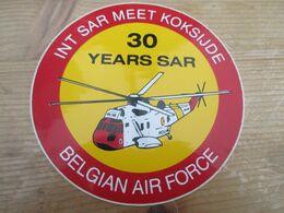STICKER BELGIAN AIR FORCE INT SAR MEET KOKSIJDE - Aviation