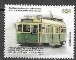 NORTH MACEDONIA , 2020, MNH,TRANSPORT, TRAMS, TRAMWAYS,1v - Tramways