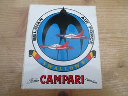 STICKER BELGIAN AIR FORCE CAMPARI SWALLOWS - Aviazione