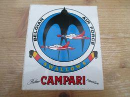 STICKER BELGIAN AIR FORCE CAMPARI SWALLOWS - Aviation