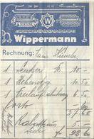 """Rechnung  """"Fahrräder Wippermann, St.Margrethen""""          1952 - Schweiz"""