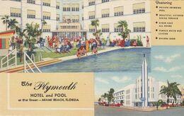 MIAMI BEACH , Florida , 30-40s ; Plymouth Hotel & Pool - Miami Beach