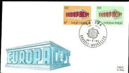 Belgie Belgique 1969 OCBn° 1489-1490 FDC Cept Europa  Cote 3,00 € - 1961-70