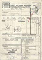 """Frachtbrief  """"Bissoli, Papierwaren, Kreuzlingen""""          1943 - Historical Documents"""