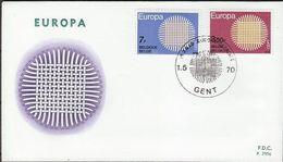 Belgie Belgique 1970 OCBn° 1530-1531 FDC Cept Europa  Cote 3,00 € - 1961-70