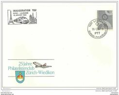 """202 - 41 - Enveloppe Suisse Avec Oblit Spéciale """"Inauguration TGV Paris-Lausanne 1984"""" - Trains"""