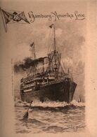 ! Alte Schiffsspeisekarte Der Hamburg Amerika Linie, HAPAG, 1904, Menükarte, Sign. Willy Stöwer - Menus