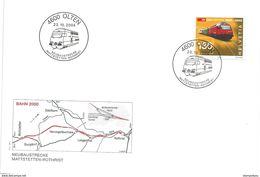 """202 - 61 - Enveloppe Avec Oblit Spéciale D'Olten """"Neubaustrecke Mattstetten-Rothrist 2004"""" - Marcofilie"""