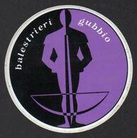 Stikers Palio Di Gubbio Perugia Balestrieri Balestra Crossbow Arbalist Arbalète Arbalétrier FAS00072 - Sammelbilder, Sticker