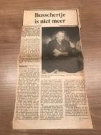 Krantenartikel 1983 Willy Debusschere Pastoor Conterdam - Hazegras OOSTENDE - Oostende