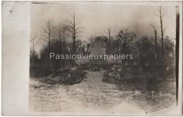 CARTE PHOTO ALLEMANDE Le BOIS De VILLE (VILLE Sur TOURBE)  1916  MONUMENT CIMETIERE - Other Municipalities
