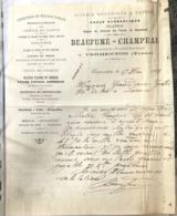 Scierie Mécanique A Vapeur - Beaufumé Champeau - Vermenton 1908 - 1800 – 1899