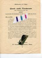 MILITARIA / SERVICE MILITAIRE / ARMEE / GUERRE / MOBILISATION / BRUGES - Historical Documents
