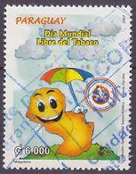 Timbre Oblitéré N° 2975(Yvert) Paraguay 2007 - Lutte Contre Le Tabagisme - Paraguay