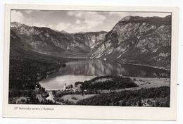 1958 YUGOSLAVIA, SLOVENIA, STARA FUZINA POSTMARK, BOHINJ LAKE FROM RUDNICA, ILLUSTRATED POSTCARD, MINT - Jugoslawien
