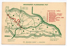 1984 YUGOSLAVIA, CROATIA, CAKOVEC, MEDJUMURJE MOUNTAIN TRACK, 1934-1984, ILLUSTRATED POSTCARD, USED - Jugoslawien