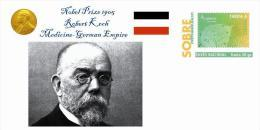 Spain 2013 - Nobel Prize 1905 Medicine - Robert Koch/Germany Special Prepaid Cover - Nobelpreisträger