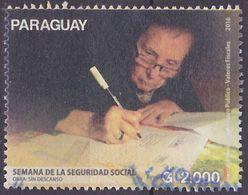 Timbre Oblitéré Paraguay 2016 - Semaine De La Sécurité Sociale - Paraguay