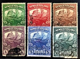 NEWFOUNDLAND 1919 - MLH/canceled - Sc# 115, 116, 117, 118, 119, 122 - 1908-1947