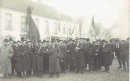 Peer L'harmonie  Banniere Musiciens 19 Novembre 1912  Carte Photo - Peer
