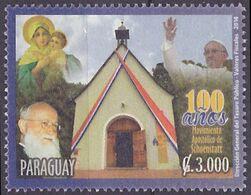 Timbre Oblitéré Paraguay 2014 - Mouvement Apostolique De Schoenstaat - Paraguay