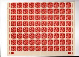 CECOSLOVACCHIA CESKOSLOVENSKO , Francobolli Per Giornali : 10 H Blocco Ripiegato Di 80  Integro  *** - Timbres Pour Journaux
