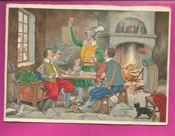 CP Double - BARRE-DAYEZ N° 12572 B Hommes Buvant Un Coup Dans Une Taverne, Scène Populaire - Illustratori & Fotografie