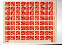 CECOSLOVACCHIA CESKOSLOVENSKO , Francobolli Per Giornali : 40 H Blocco Ripiegato Di 80  Integro  *** - Timbres Pour Journaux