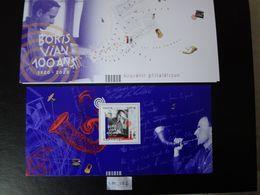 """FRANCE 2020 BLOC SOUVENIR PHILATELIQUE """" BORIS VIAN 100 ANS 1920 - 2020  """" NEUF** MUSICIEN CHANTEUR COMPOSITEUR - Souvenir Blocks & Sheetlets"""