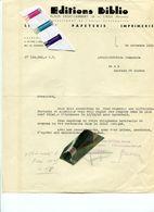 BASSE MEUSE / HOUTAIN SAINT SIMEON / LIBRAIRIE / PAPETERIE / IMPRIMERIE / LIEGE / BIBLIO - Historical Documents