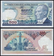 Türkei - Turkey 500 Lira Banknote  ATATÜRK 1970 (1983) Pick 195 UNC (1) (15778 - Turquie