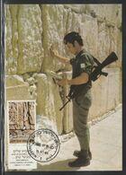 Israel, Jerusalem Western, Wailing Wall Max Card - 1, Judaica Jewish - Jewish