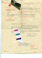 MILITARIA / BRUXELLES  / OFLAG / KRIEGSGEFANGEN  / PRENZLAU / CROIX ROUGE - Historical Documents