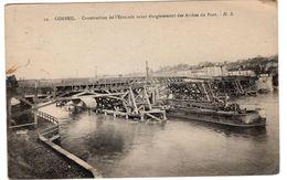 91-CORBEIL- CONSTRUCTION DE L'ESTACADE  ELARGISSEMENT DES ARCHES DU PONT-ANIMEE - Corbeil Essonnes