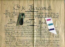 HALLEMBAYE / LIXHE / ACTE / PLAN / BASSE MEUSE / HACCOURT - Historical Documents