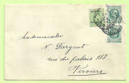194 +BZ 41 (mixte Frankeering) Op Brief Stempel POSTES MILITAIRES BELGIQUE 1 (K5132) - WW I