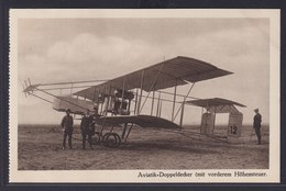 Ansichtskarte Flugzeug Aviatik Doppeldecker  - Zeppeline