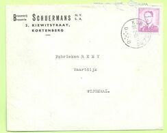 1067 Op Brief Stempel KORTENBERG , Met Hoofding BROUWERIJ / BRASSERIE SCHUERMANS (B6465) - 1953-1972 Bril