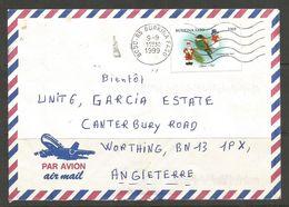 BURKINA FASO. 1999. AIR MAIL COVER. BOBO POSTMARK ON 530F CHRISTMAS STAMP. - Burkina Faso (1984-...)