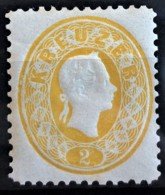 AUSTRIA 1860/61 - MLH - ANK 18Nb. - Neudruck 1887 - 2kr - Essais & Réimpressions