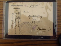 Lettre En Feldpost (de Réemploi… Députation Permanente Limbourg) Cachet: DEUTSCH ZIVILVERWALTUNG I.D. PROV.LIMBURG (HASS - Guerra '14-'18