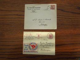 Publibel N° 1715 Oblitérée Aalst Et Griffe D'origine De MERE (1960) + Lettre à En-tête De Pamel, Oblitérée Aalst - Ganzsachen