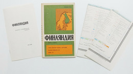 Map FINLAND Russian USSR Old Reference Atlas Vintage 1978 Suomi Suomen Index - Unclassified