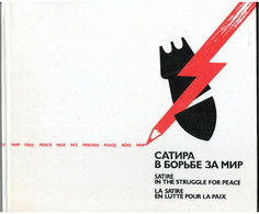 1979 SATIRE For PEACE Propaganda Anti War Vietnam KKK Black Posters Russian Book - Unclassified