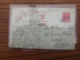 Entier Postal N° 88 (HOUYOUX à 60C). La REPONSE Oblitérée (partiellement) De WRAYSBURY En 1926. - Stamped Stationery