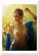 SEXY LADY Woman Belly Dance Erotica FINE ART By Razumov Rusian New Postcard - Sin Clasificación