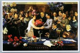 STALIN Unforgettable Meeting Politics Voroshilov Soviet Patriotic New Postcard - Heimat